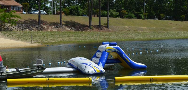 water-toys-at-davis-lake-campground-in-virginia