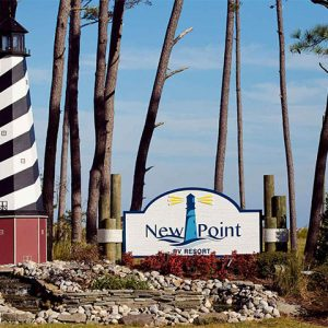 Entrance sign at New Point RV Resort