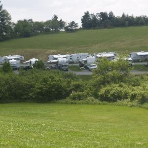 rv sites at Lakeride RV Resort in Virginia