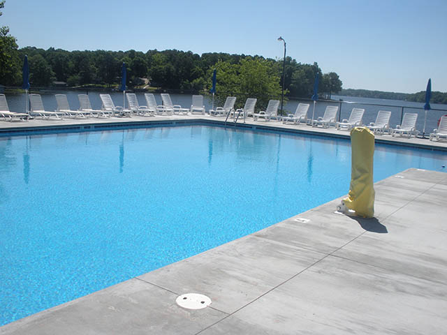 swimming pool at campground in virginia