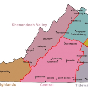 region map of virginia