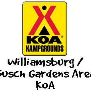 Williamsburg Busch Gardens Area KOA logo
