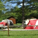 Tent site at Shenandoah River Outfitters