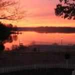 sunset at americamps lake gaston in va