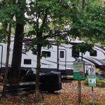 Camping site at Hilltop Camping Park