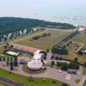 aerial photo of campground at cape charles virginia