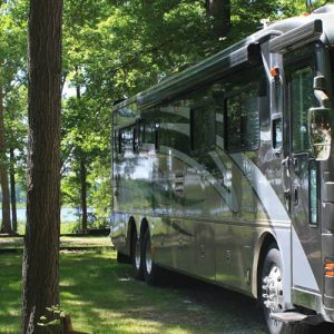 rv on camping site