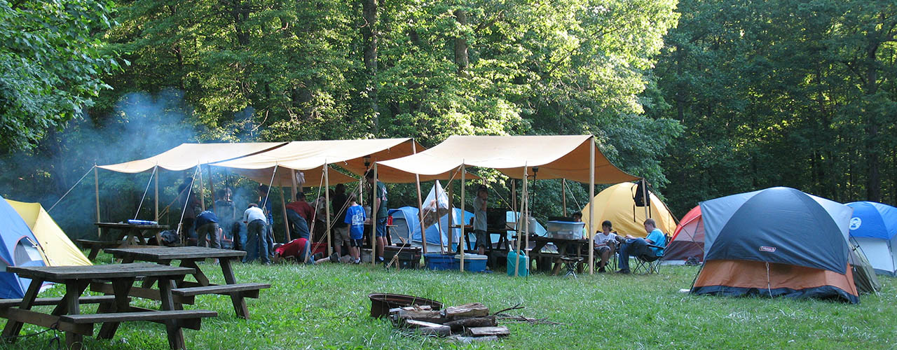 Group camping opportunities exist for virginia campgrounds