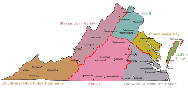 Central Virginia Map.Virginia Campgrounds Virginia Is For Campers
