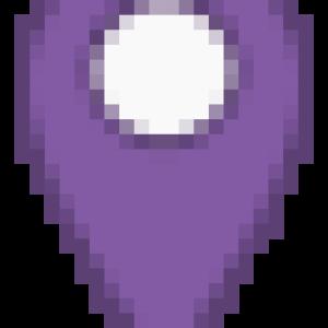 purple marker icon