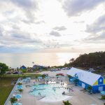 aerial photo at Chesapeake KOA Resort and Beach Club