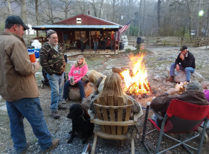 family gathering at fort valley ranch