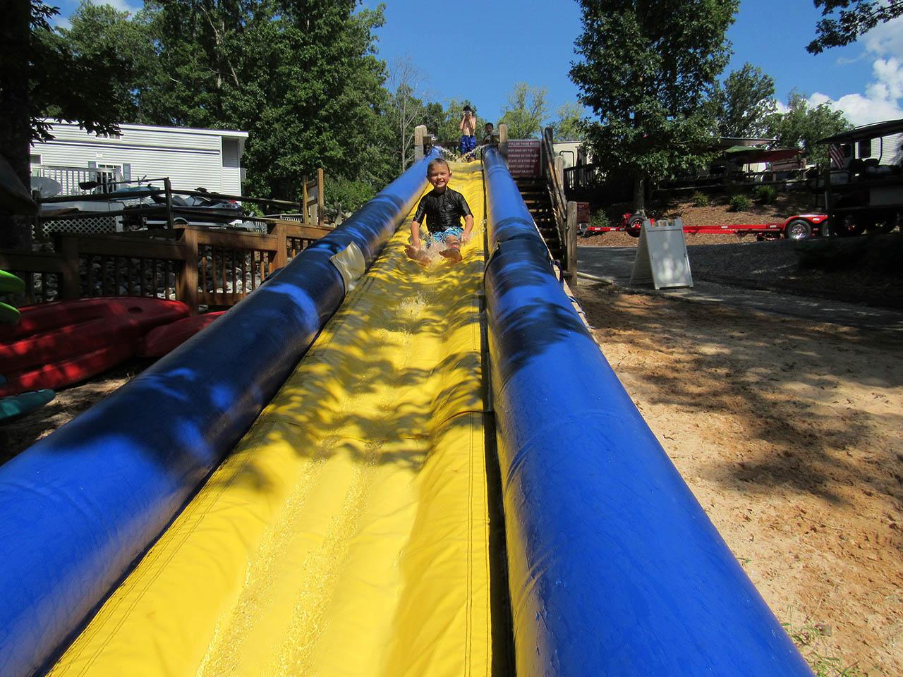 halesford harbour inflatable slide