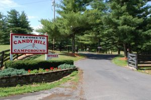 candy hill campground entrance